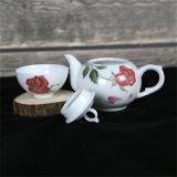 Daqiuni 2018 Nuevo diseño de Rosa juego de té 1 POT 2 tazas de té
