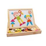 Lernen und Ausbildungs-magnetisches Puzzlespiel hölzern