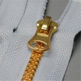Chiusura lampo Closed d'ottone dorata #3 #5 #8 dell'estremità della serratura automatica