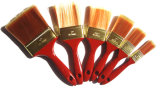Нити щетки краски сплющенные с деревянной ручкой для русского рынка