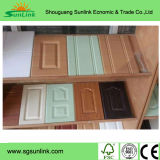 台所家具の部品PVCフィルムMDFの食器棚のドア