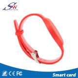 Justierbarer RFID SilikonWristband mit wahlweise freigestelltem