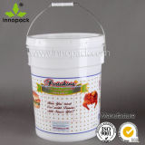 Benne di plastica di 5 galloni della vernice resistente del nero con i coperchi e la maniglia Innopack