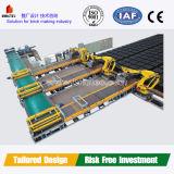 Sistema de empilhamento de carga e descarga de tijolos de argila totalmente automática
