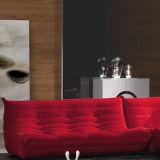 Rotes moderner Entwurfs-Ecken-Gewebe-Sofa für Wohnzimmer-Möbel