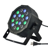 18*3W mini televisão LED de luz PAR Slim