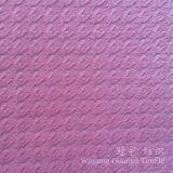 Tissu de velours de polyester gravé en relief pour des couvertures de sofa