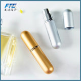 Design personalizado 5ml vaso de perfume de alumínio com tubos de vidro