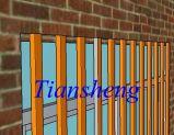 아프리카 Market를 위한 Security Bar를 가진 주문을 받아서 만들어진 Aluminum Sliding Window