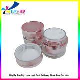 Custom vide acrylique Contaners Crème visage cosmétique de l'emballage pour produits de soins de la peau