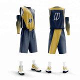 Haut de la qualité 100% Polyester Sublimation College Basketball Jersey uniforme