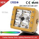 Square CREE 12V Offroad Cube 40W à LED Lampe phare de travail pour le camion voiture14105 ATV (GT)