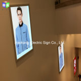 Snap Aluminium White Picture Frame Slim LED Light Box pour magasin Signe