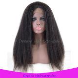 Virgin 아기 머리를 가진 인도 사람의 모발 가득 차있는 레이스 가발