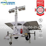 torretta chiara di 240W LED, tipo torretta chiara solare, torretta chiara mobile solare del rimorchio