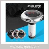 입체 음향 핸즈프리 무선 Bluetooth 차 장비 충전기 FM MP3 전송기