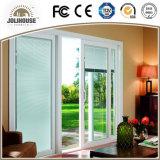 Porte coulissante personnalisée par usine des prix d'usine de la Chine de la fibre de verre UPVC de bâti en plastique bon marché de profil avec des intérieurs de gril