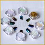 Украшение Manicure пыли хромировочного красителя искусствоа ногтя раковины Pearlescen рассвета яркиев блесков порошка ногтя зеркала хамелеона акриловое