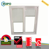 Effetto Windows scorrevole di uragano del PVC con i ciechi all'interno