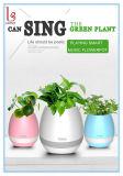 Bluetoothのスピーカー+ LED Light&#160が付いているスマートな植木鉢;
