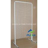 Стеллаж для выставки товаров магазина стены решетки пола стоящий стальной (PHY310)