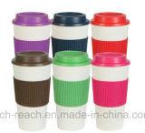 doppel-wandiger Plastikarbeitsweg-Becher des kaffee-450ml (R-2293)