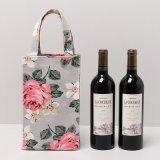 Blumenmuster Belüftung-Segeltuch Waterprood Wein-Schulter-Beutel (A078-2)