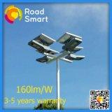 Luz de rua ao ar livre solar elevada do parque da escola de Brigtness com bateria