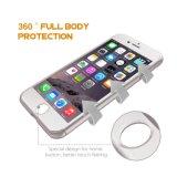 360 grados de plástico duro de cuerpo entero caja de teléfono móvil de protección con vidrio templado para el iPhone 7