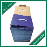 Gewölbter verpackende Papierkasten mit Plastikgriff