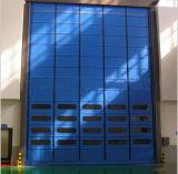 L'impilamento di alta velocità del PVC piega in su il portello del garage con la finestra trasparente