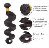 Uprocessedのブラジルのバージンの人間の毛髪の織り方
