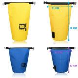 sacchetto asciutto della tela incatramata 500d per il sacchetto impermeabile Kayaking, sacco con il sacchetto asciutto del telefono e cinghia di spalla registrabile lunga