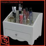 Cabina cosmética del estante de visualización del departamento de madera