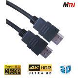 19pin cavo placcato oro di sostegno 4K 60p HDMI del connettore 2.0V