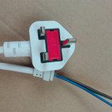 BS Aprovado 250V 3 Pin Plug com H0V5VV-F 3X0.75mm2 Cabo