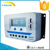 célula solar Conroller de 48V/36V/24V/12V 30A con USB dual 2.4A Vs3048au