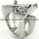 monili massonici dell'anello dell'acciaio inossidabile 316L