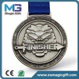 Médaille argentée de cuivre antique promotionnelle de l'or 3D de ventes en gros