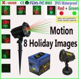 Billig 8 Garten-Laser der Muster-Weihnachtsim freien beweglicher wasserdichter Landschaftslicht-Laser-Weihnachtslicht-IP65