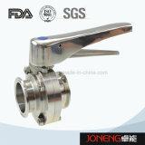 Aço inoxidável Válvula Borboleta sanitárias fixadas (JO-BV2002)