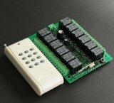 Receptor de 12 canaletas e jogo de controle remoto para 315/433MHz