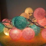 Kleurrijke Veelvoudige LEIDENE het van uitstekende kwaliteit Katoenen van 2m20LED Licht van de Bal