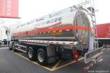 6 X 4 25cbm 20t de Vrachtwagen van de Tanker van de Brandstof van het Aluminium voor het Vervoer van de Olie