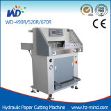 (WD-520R) 80mm hydraulische Programm-Steuerung Papier-Ausschnitt-Maschine