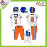 Le jeu uniforme sublimé d'équipe de football américain avec en conçoivent en fonction du client