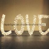 1,5 millones de letras en inglés de la boda la decoración de luces LED de parte de Espectáculo de luces de Navidad