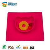 Mat van de Maaltijd van de Mat van de Lijst van het Silicone van Placemat van de Baby van de Baby van het Silicone van de fabriek de In het groot FDA Goedgekeurde Antislip