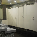 Compartiment gris de toilette de stratifié de contrat de couleur de bon modèle