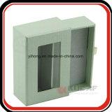 Rectángulo de empaquetado resbalado papel de la especialidad de la bandeja del terciopelo con la ventana
